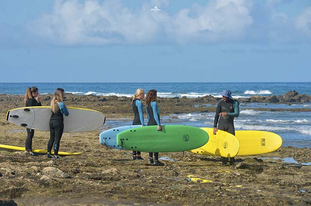 Franz Surf School Tenerife. Learn no surf