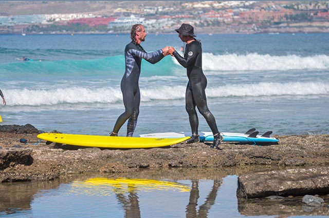 Clase de surf privada Tenerife, Tenerife surf classes,  Franz surf School